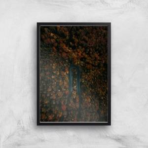 Sharp Turn Forest Giclee Art Print