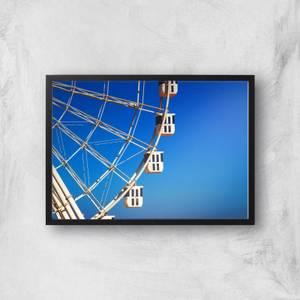 Ferris Wheel Carriages Giclee Art Print