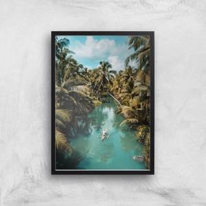 Tropical Canoe Ride Giclee Art Print