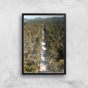 Tropical Road Giclee Art Print
