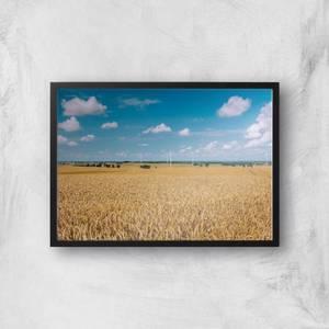 Fields Of Wheat Giclee Art Print