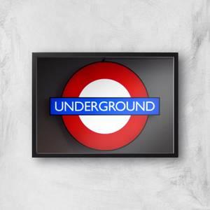 Underground Giclee Art Print