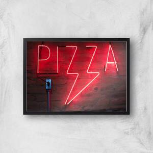 Neon Pizza Giclee Art Print