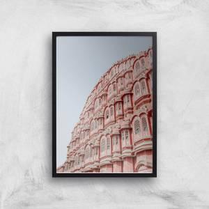 Pink Building Giclee Art Print