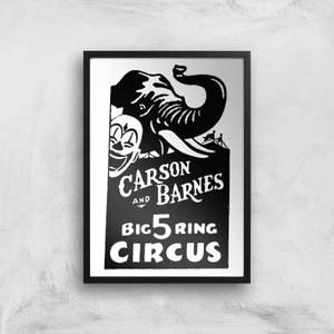 Carson And Barnes Circus Giclee Art Print