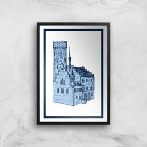 Blue Castle Giclee Art Print