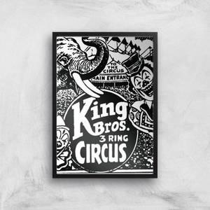 King Bros 3 Ring Circus Giclee Art Print