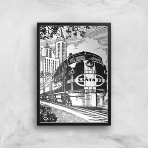 Train Giclee Art Print