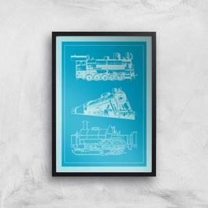 Train Diagram Giclee Art Print