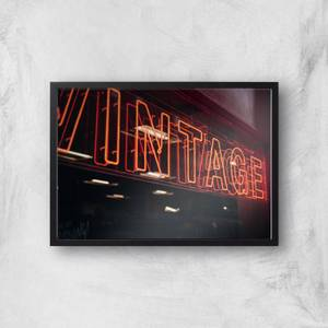 Vintage Neon SIgn Giclee Art Print