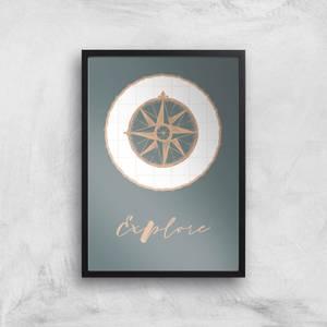 Compass Explore Giclee Art Print