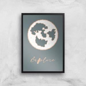 Explore Map Giclee Art Print