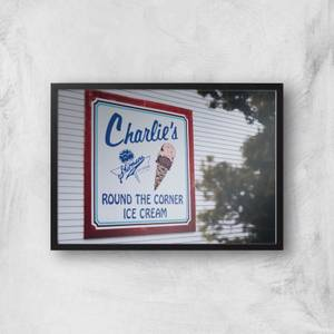 Charlie's Ice Cream Giclee Art Print