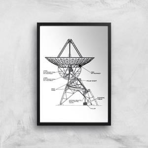 Radar Dish Giclee Art Print