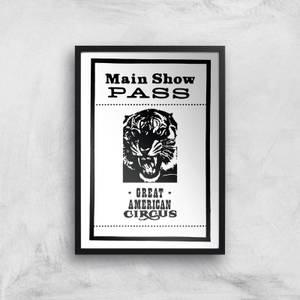 Main Show Pass Great American Circus Giclee Art Print