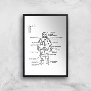 Astronaut Diagram Giclee Art Print