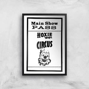 Main Show Pass Hoxie Circus Giclee Art Print