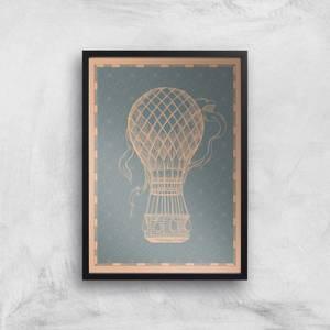 Hot Air Balloon Giclee Art Print