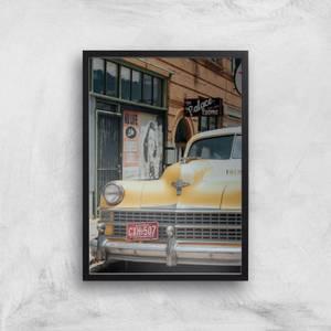 New York Cab Giclee Art Print