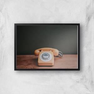 Old Phone Giclee Art Print