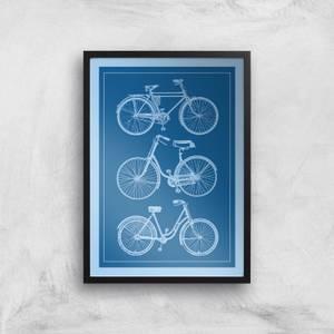 Bike Diagram Giclee Art Print