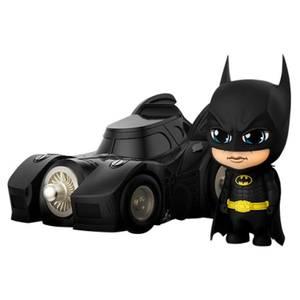 Figurine Cosbaby Batman avec la Batmobile 12cm - Batman (1989) - Hot Toys