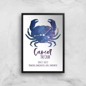 Cancer The Crab Giclée Art Print