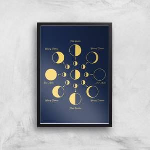 Phases Of The Moon Giclée Art Print