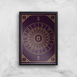 Decorative Planet Symbols Giclée Art Print
