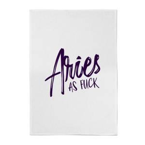 Aries As Fuck Cotton Tea Towel