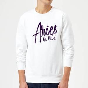 Aries As Fuck Sweatshirt - White