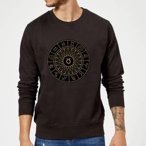 Decorative Horoscope Symbols Sweatshirt - Black