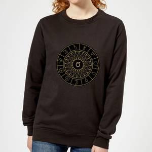 Decorative Planet Symbols Women's Sweatshirt - Black