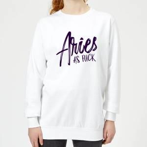 Aries As Fuck Women's Sweatshirt - White