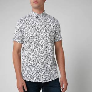 Ted Baker Men's Krosa Leaf Print Shirt - Navy