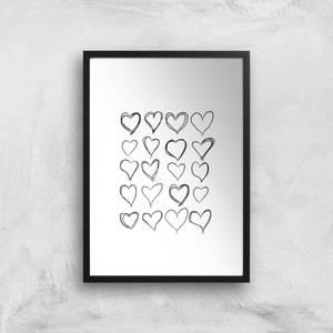 Love Hearts Giclee Art Print