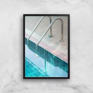 Vintage Swimming Pool Giclee Art Print