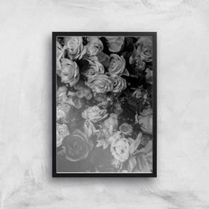Florals At Midnight Giclee Art Print