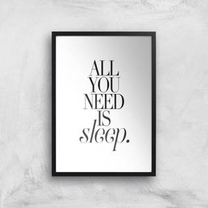 All You Need Is Sleep Giclee Art Print