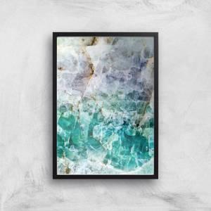 Turquoise Quartz Giclee Art Print