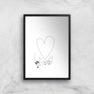 Pinky Promise Mother Baby Giclee Art Print