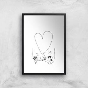 Pinky Promise Her + Her Giclee Art Print