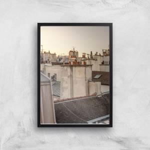 Paris At Dusk Giclee Art Print