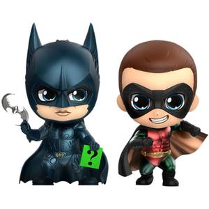 Lot de 2 figurines Cosbaby Batman & Robin 11cm - Hot Toys