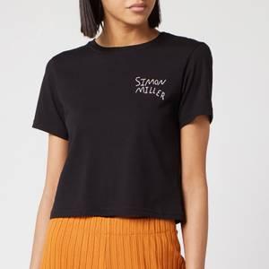 Simon Miller Women's Rondo T-Shirt - White/Black Embroidery