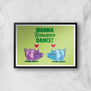 Viva Pinata Wanna Romance Dance Pig Art Print Giclee Art Print