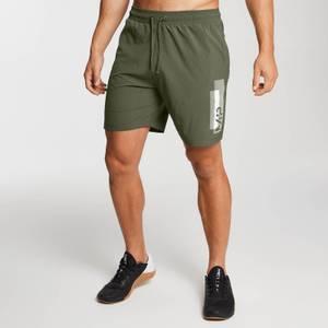 Pantalón corto de entrenamiento estampado para hombre - Verde militar