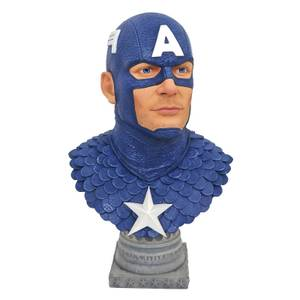Diamond Select Marvel Legends In 3D 1/2 Scale Bust - Captain America