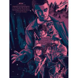 Stranger Things Screenprint Art by Nos4a2