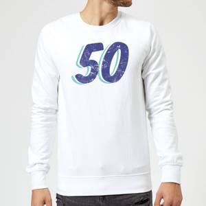 50 Distressed Sweatshirt - White